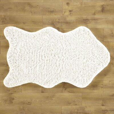 Shear Softness White Rug Rug Size: 23 x 39