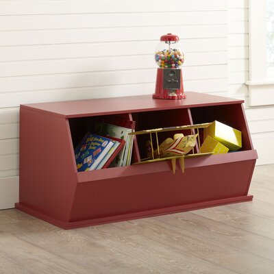 Go-To Storage Cubby Color: Red, Bins: 2