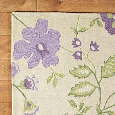 Trailing Vines Purple Rug Rug Size: Rectangle 2 x 3