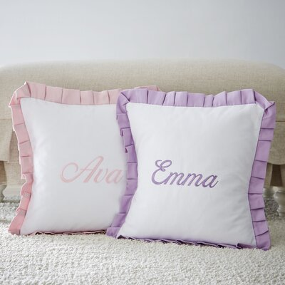 Monogrammed Ruffled Pillow
