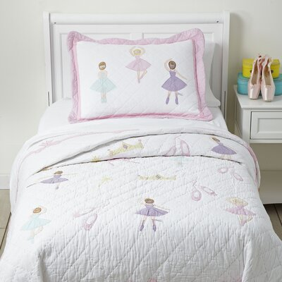 Pirouette Quilted Bedding Set Size: Twin