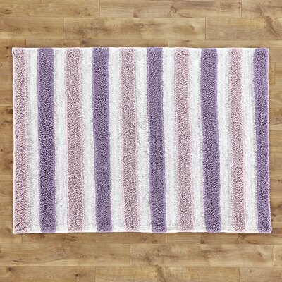 Stripe Out Purple Rug Rug Size: 5 x 7