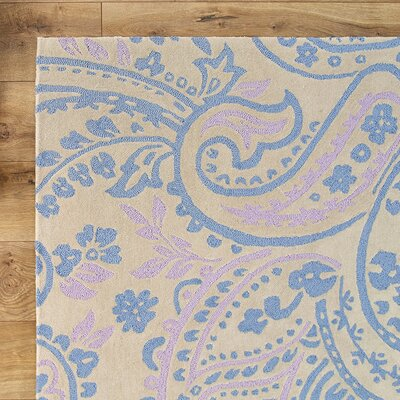 Paisley Purple Rug Rug Size: Rectangle 76 x 96
