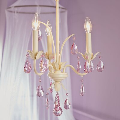 Polished 3-Light Candle-Style Chandelier