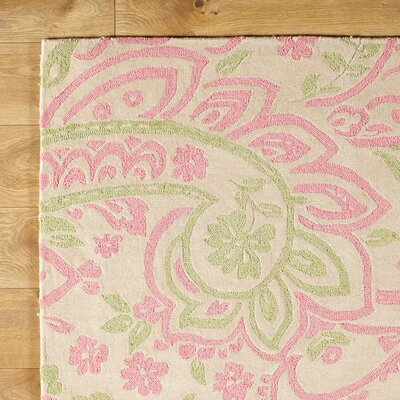 Paisley Pink Rug Rug Size: Rectangle 2 x 3