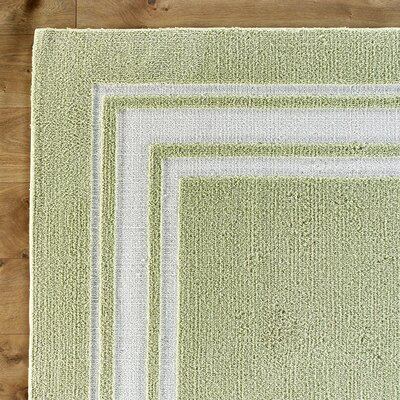 Borderline Green Rug Rug Size: 3' x 5'