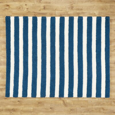 Stripe Out Blue Rug Rug Size: 5 x 7
