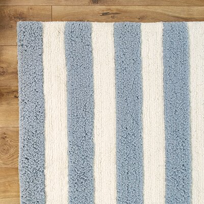 Stripe Out Slate Rug Rug Size: Round 3