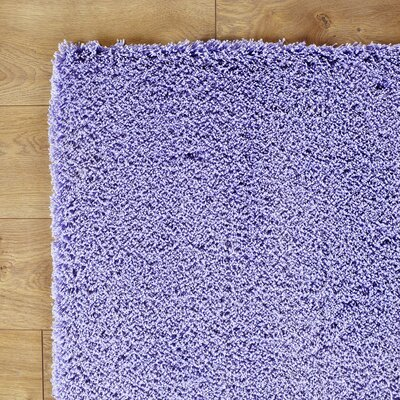 Shaggy Purple Rug Rug Size: 76 x 96