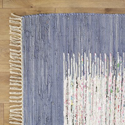 Static Hand-woven Blue/Ivory Rug Rug Size: Round 6