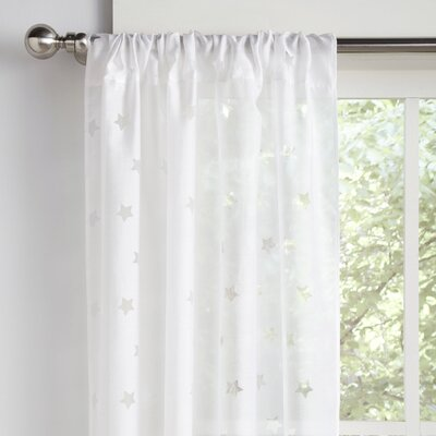 Starstruck Geometric Semi-Sheer Rod Pocket Curtain Panels