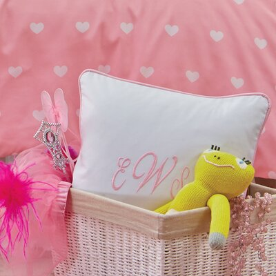 Classic Monogrammed Pillow Cover Color: Light Pink