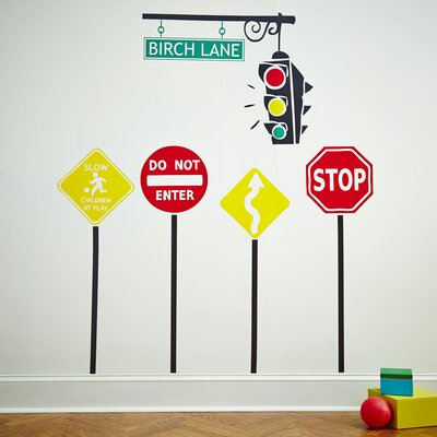 Stop & Go Wall Decal Set