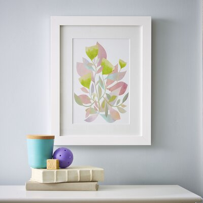 Watercolor Florals Framed Graphic Art Print
