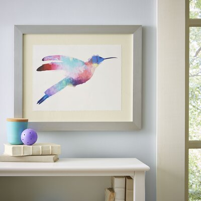 Watercolor Hummingbird Framed Print III