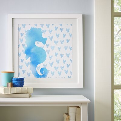 Seahorse Watercolor Sea Creatures Framed Print