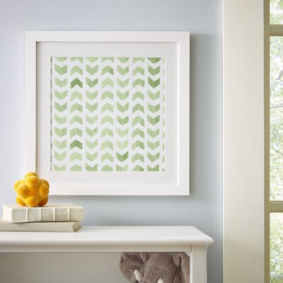 Chevron Repeat Pattern Framed Print