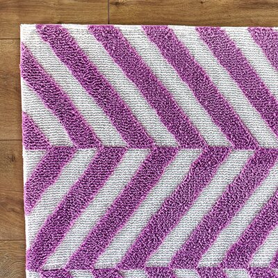 Haute Herringbone Purple Rug