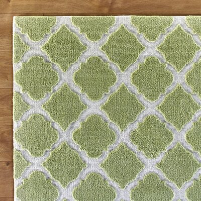 Lattice Play Green Rug