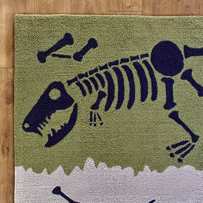 Dig it Yellow & Green Rug Rug Size: 5 x 76