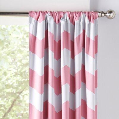 Chevron Room Darkening Thermal Rod Pocket Curtain Panels
