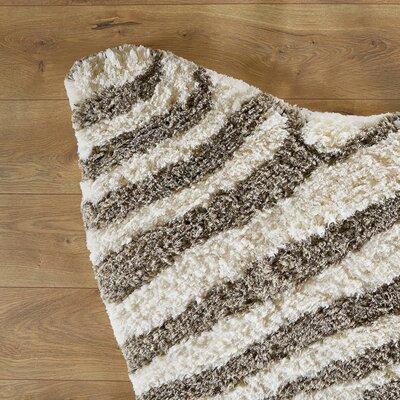 Zebra Stripe Taupe Rug Rug Size: 3'6 x 5'6