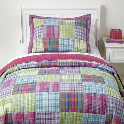 Patchwork Hard, Play Hard Quilted Bedding Set