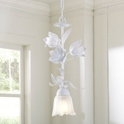 Blooming Bouquet Pendant Finish: White