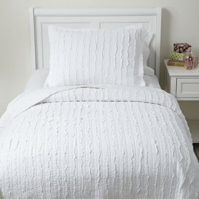 Ra Ra Ruffles Quilted Bedding Set Size: Twin