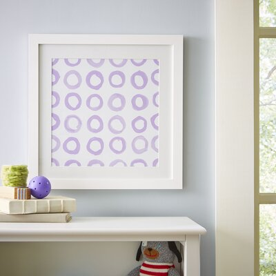 Circle Repeat Pattern Framed Graphic Art Print