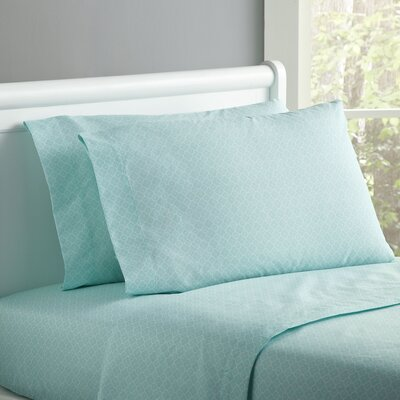 Lucky Day Sheet Set Size: Twin, Color: Seafoam