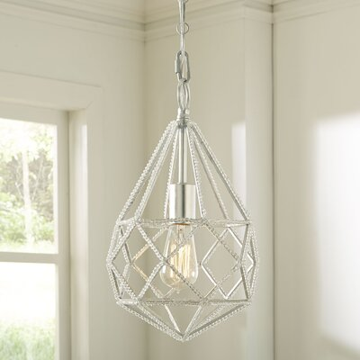 Diamond Cut 1-Light Mini Pendant Color: Burnished Silver