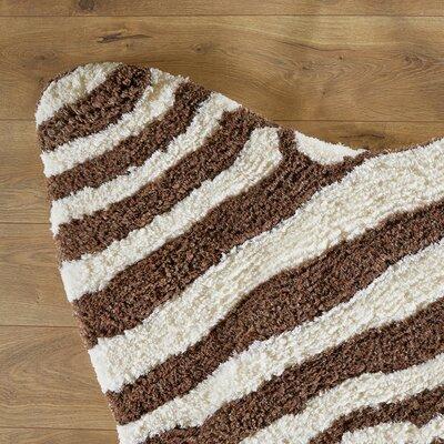 Zebra Stripe Brown Rug