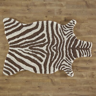 Zebra Stripe Brown Area Rug