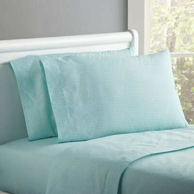 Spot-On Sheet Set Size: Twin, Color: Seafoam