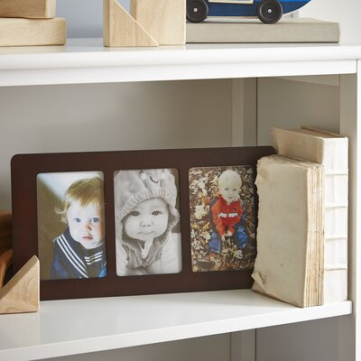 Trio Vertical Wood Picture Frame Color: Walnut