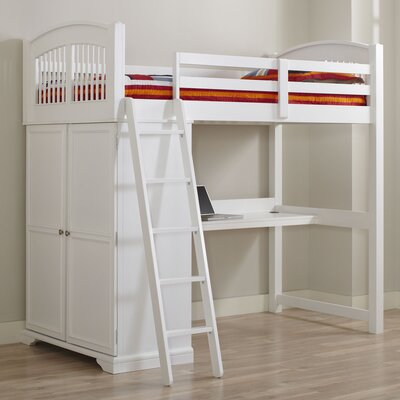 Haynes Loft Bed Finish: White