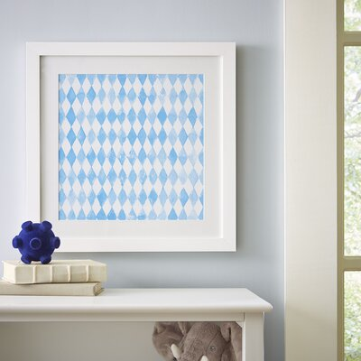 Diamond Repeat Pattern Framed Print