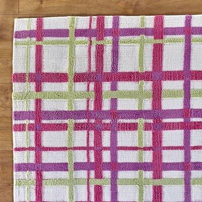 Mad for Plaid Pink Rug Rug Size: 2' x 3'