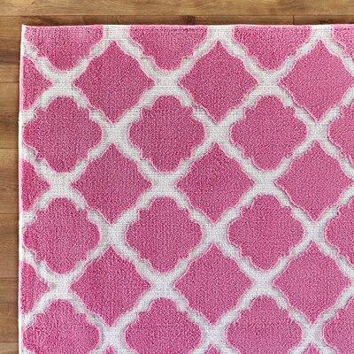 Lattice Play Pink Rug