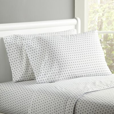 Starry Sky Sheet Set Size: Twin, Color: Gray