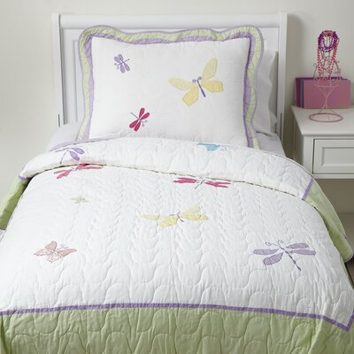 Fluttering Friends Quilted Bedding Set Size: Twin BLK1854 26962336