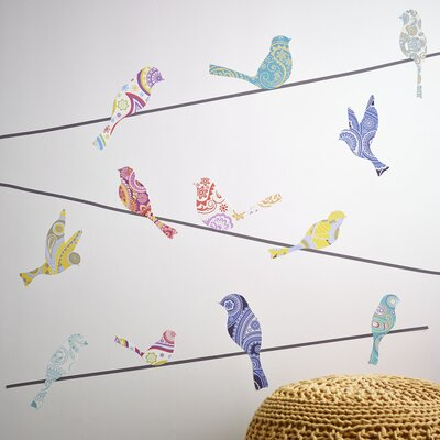 Bird on Wire Wall Decal Set