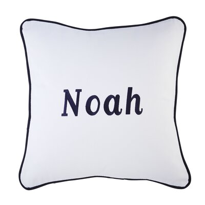 Corded Monogrammed Pillow Cover Color: Navy