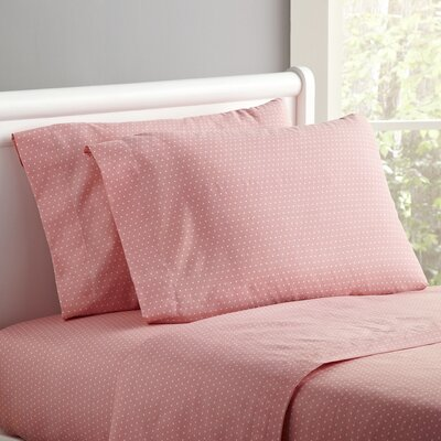 Spot-On Sheet Set Size: Twin, Color: Pretty Pink