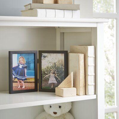 Duo Hinged Wood Picture Frame Color: Black