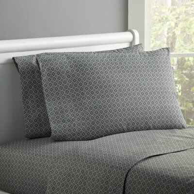 Lucky Day Sheet Set Size: Twin, Color: Gray
