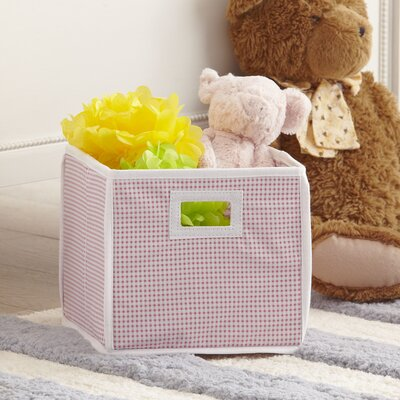 Gingham Basic Storage Cube Color: Pink