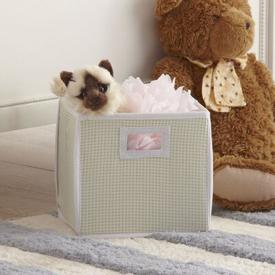 Gingham Basic Storage Cube Color: Sage