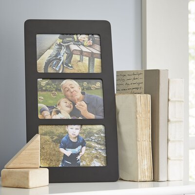 Trio Vertical Wood Picture Frame Color: Black